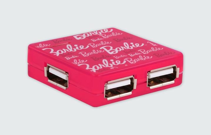 Hub USB HUB-4U Zewnętrzny 4xUSB BARBIE FAB